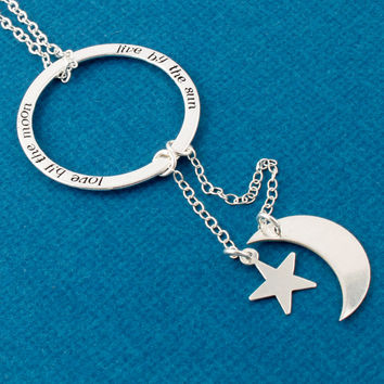 Live By The Sun / Love By The Moon Necklace