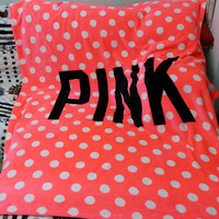 Pink Victoria Secret Blanket Manta Fleece Bedding Throws