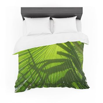 "Rosie Brown ""Palm Shadows"" Green Lime Featherweight Duvet Cover"