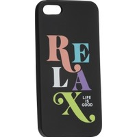 Life is good Relax Night Black iPhone 5 Case