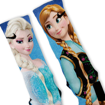 Frozen Elsa & Anna Custom Nike Elite Socks