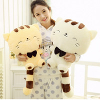 Online Shop 45CM Lovely Big Face Smiling Cat Stuffed Plush Toys Soft Animal Dolls Factory Lowest Price Best Gifts for Kids High Quality | Aliexpress Mobile