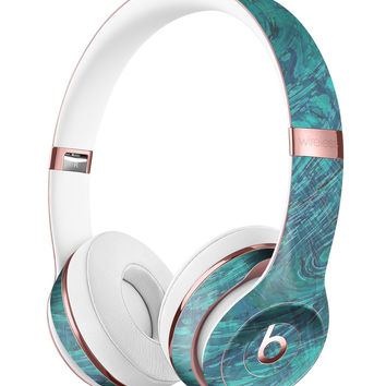 Teal Slate Marble Surface V48 Full-Body Skin Kit for the Beats by Dre Solo 3 Wireless Headphones