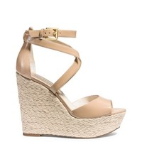 Gabriela Patent-Leather Espadrille Wedge | Michael Kors