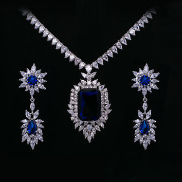 Blue Jewelry Set For Wedding