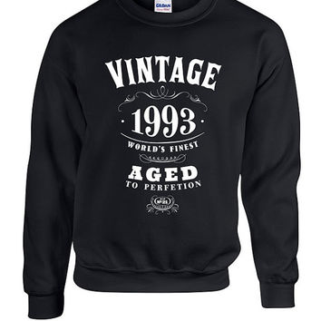 21st Birthday Gift Vintage 1993 Hoodie Hooded Sweatshirt Sweater Dirty Twenty One Funny Joke college Twenty-First bday Son Daughter Drinking