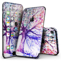 Abstract Colorful WaterColor Vivid Tree V2 - 4-Piece Skin Kit for the iPhone 7 or 7 Plus