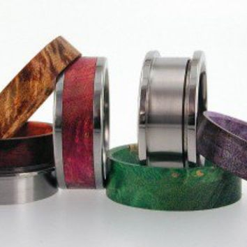 Interchangeable Rings - 4 extra Wood Inlays
