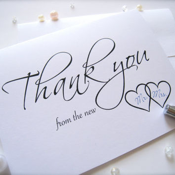 Wedding Thank You cards with envelopes, thank you notes - 10 cards