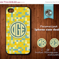 20% OFF SALE Personalized iPhone 4 Case - Plastic iPhone case - Rubber iPhone case - Monogram iPhone case - iPhone 4s case - K102