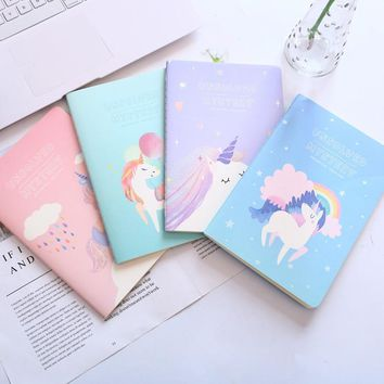 My Dream Unicorn A5 Notebook Diary Book Exercise Composition Notepad Escolar Papelaria Gift Stationery