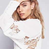 Free People Blueless Bird Wrap Top