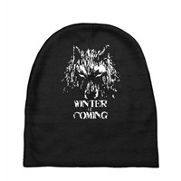 game of thrones direwolf winter is coming Baby Beanies