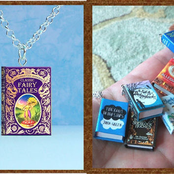 Classic Fairy Tales - Hans Christian Andersen - Micro Mini Book Necklace