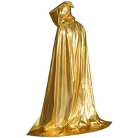 Adult Fancy Dress Halloween Costume Hooded Cloak Wedding Cape Wicca Robe