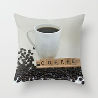 Coffee Decorative Throw Pillow Cover 18x18 20x20 16x16 Home Decor Cushion Cover Gifts Under 50 Gift for Coffee Addict