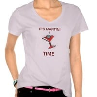 IT'S MARTINI TIME T SHIRT WOMENS TANK TOP PINK