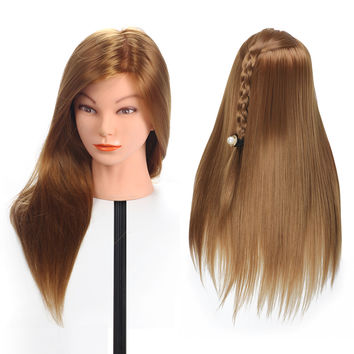 Natural Animal Fiber Hair Mannequin Head Dummy Mannequin Hairdresser Mannequin Head Professional Styling Head Wig Head.