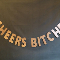 Cheer Bitches Banner/ Bachelorette Party/ Bridal Shower/ Girl's Night