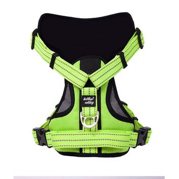 Reflective Large Size Dog Chest Harness Vest Training Outdoor Pet Product Leash Straps Rope with Handle Running 39