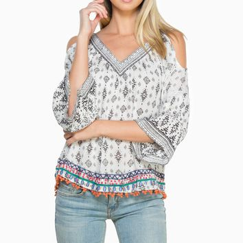 ShopSosie Style : Tulum Open Shoulder Blouse