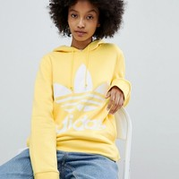 adidas Originals adicolor Trefoil Hoodie In Yellow at asos.com