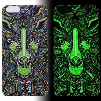 Giraffe Luminous Light Up Case Cover for iPhone 5s / iPhone 6s / iPhone 6s Plus