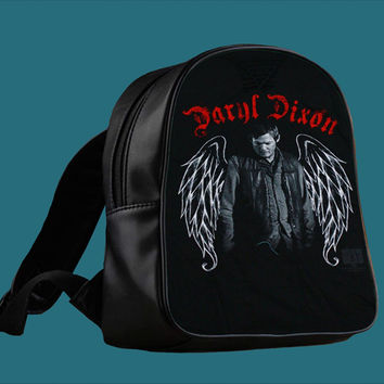 The Walking Dead Daryl Dixon Wing for Backpack / Custom Bag / School Bag / Children Bag / Custom School Bag *