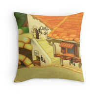 'Costa Del Sol ' Throw Pillow by likelikes
