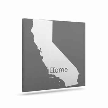 "Bruce Stanfield ""California Is Home"" Gray White Canvas Art"