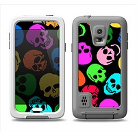 The Vivid Vector Neon Skulls Samsung Galaxy S5 LifeProof Fre Case Skin Set