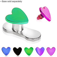 PVD Plated Heart Dermal Top