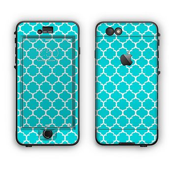 The Teal And White Seamless Morocan Pattern Apple iPhone 6 Plus LifeProof Nuud Case Skin Set