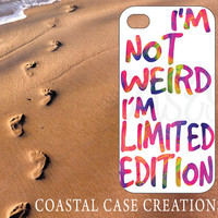 Apple iPhone 4 4G 4S 5G Hard Plastic or Rubber Cell Phone Case Cover Original Trendy Stylish Colorful Limited Edition Quote Design