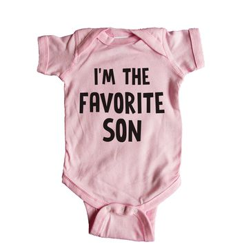 I'm The Favorite Son Baby Onesuit