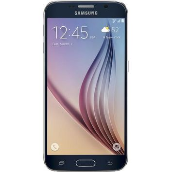 Samsung - Galaxy S6 4G LTE with 32GB Memory Cell Phone - Black Sapphire (Verizon Wireless)