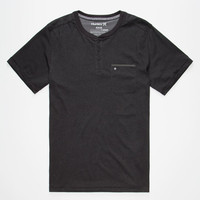 Hurley Dri-Fit Mens Henley Black  In Sizes