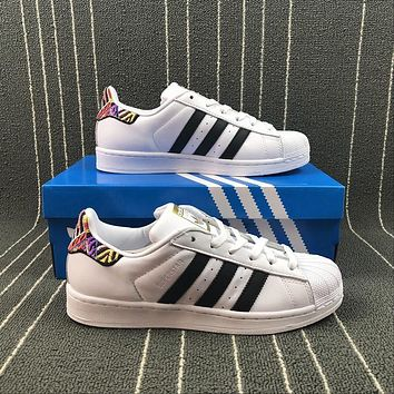 Adidas Original Superstar Embroidery Sports Running Shoes