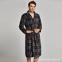 Winter Robe Kimono Homme Bathrobe Bathrobe Men Bath Robes Men 8076