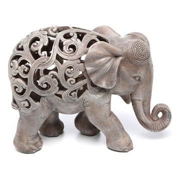 Design Toscano Anjan the Elephant Jali Figurine