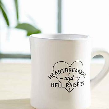 Heartbreakers And Hell Raisers Mug- Black & White One