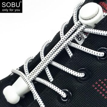 Fashion No Tie Shoelace Locking Shoe Laces Elastic Shoelace for Shoestring Running/Jogging/Triathlon/Sports Fitness N006