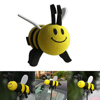 New Car Antenna Toppers Smiley Honey Bumble Bee Aerial Ball Antenna Topper