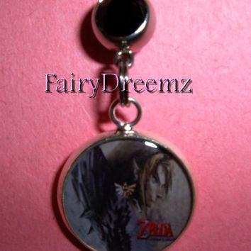 ZELDA Twilight Princess Logo Resin Charm  Belly Navel Ring Jewelry