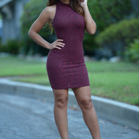 Spiffy Dress - Burgundy