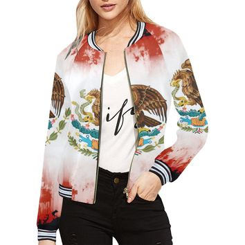 Mexican Flag Women's Bomber Jacket