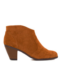Roundup Sally Suede Booties - Tan