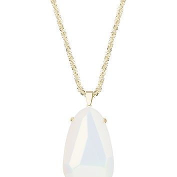Sandra Pendant Necklace in White Iridescent - Kendra Scott Jewelry