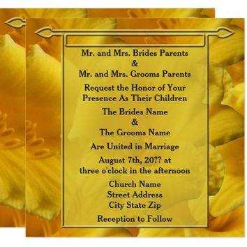 Golden Lilies Wedding Invitation