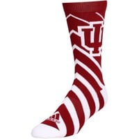 Reebok Indiana Hoosiers Ladies Chevron Sock - Crimson